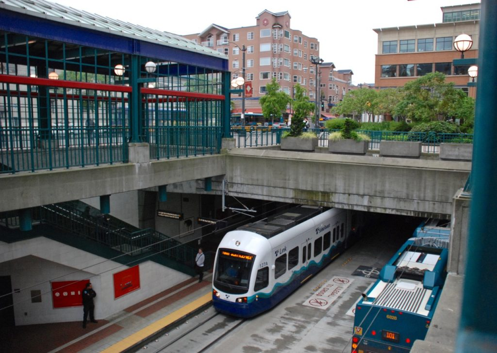 The International District has plenty of public transportation, and is also a very walkable neighborhood.